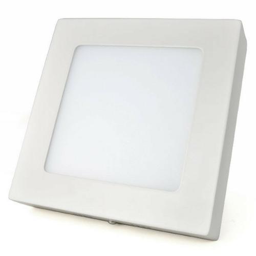 Plafon LED Luminária Quadrado Sobrepor 12w 17x17 Branco Frio 6000k