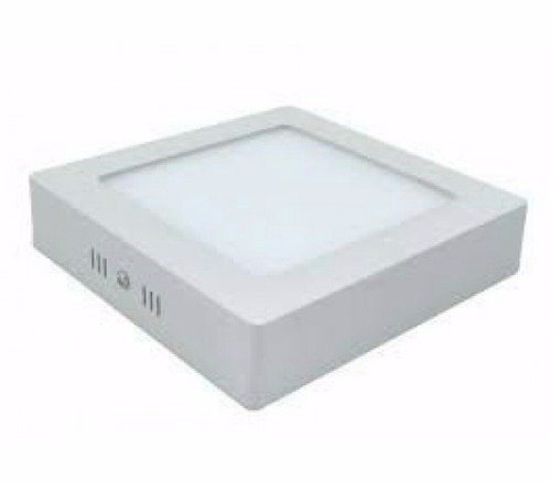 Kit 10 Luminária Plafon Led Quadrado Sobrepor 12w 17x17 Branco Frio