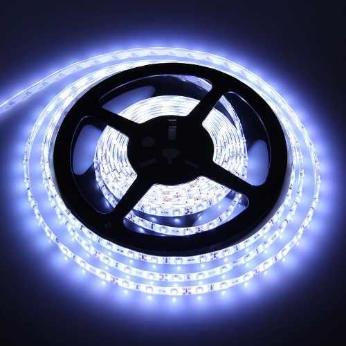 Fita LED 5050 Branco Frio 6000k Siliconada Prova D'água 5 Metros Sem Fonte