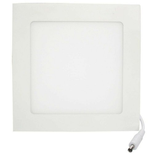 Kit 10 Plafon LED Luminária Quadrado Embutir 12w 17x17 Branco Quente 3000k