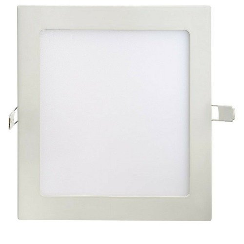 Kit 10 Plafon LED Luminária Quadrado Embutir 18w 22x22 Branco Quente 3000k