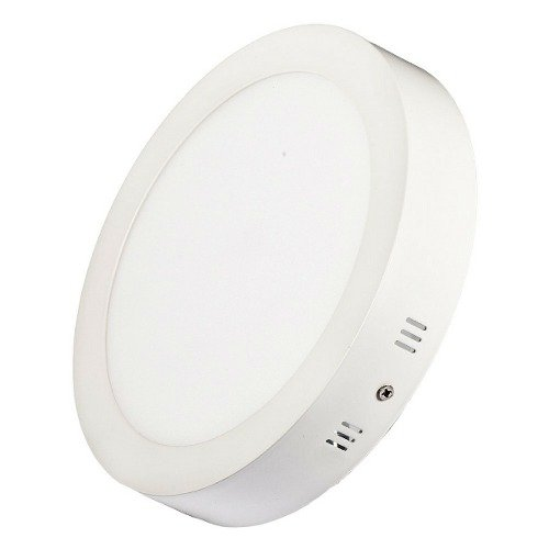Luminária Plafon Led Redondo Sobrepor 18w 22x22 Branco Quente