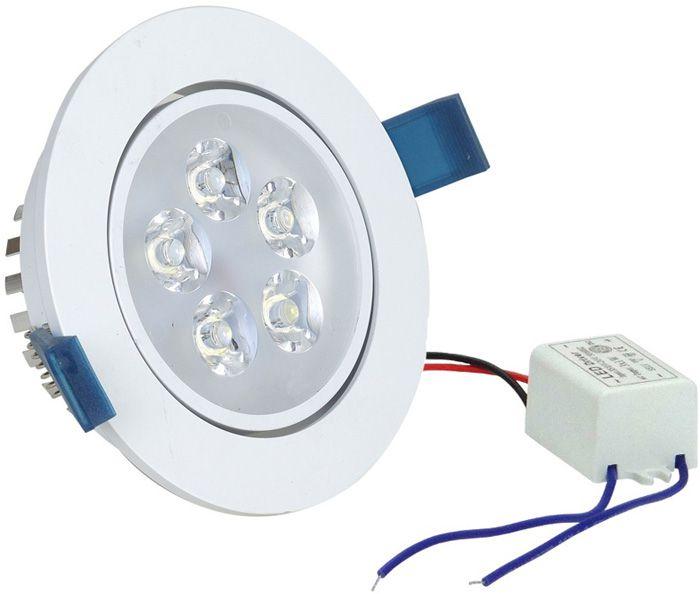 Spot Dicroica LED Embutir Redondo 5w Gesso Sanca Branco Quente 3000k