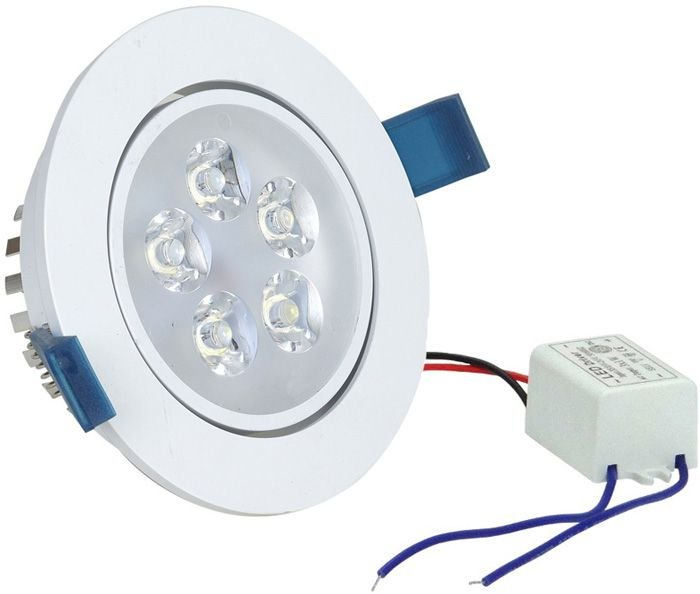 Kit 10 Spot Dicroica LED Embutir Redondo 5w Gesso Sanca Branco Quente 3000k
