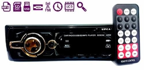 Auto Radio Mp3 Player Som Automotivo Usb Sd Toca Fm 4209