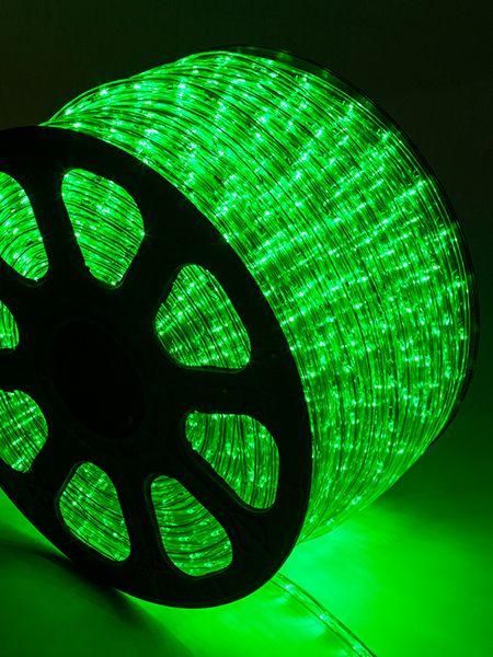 Mangueira LED Achatada Verde 100 metros 110v Ultra Intensidade - A prova dágua