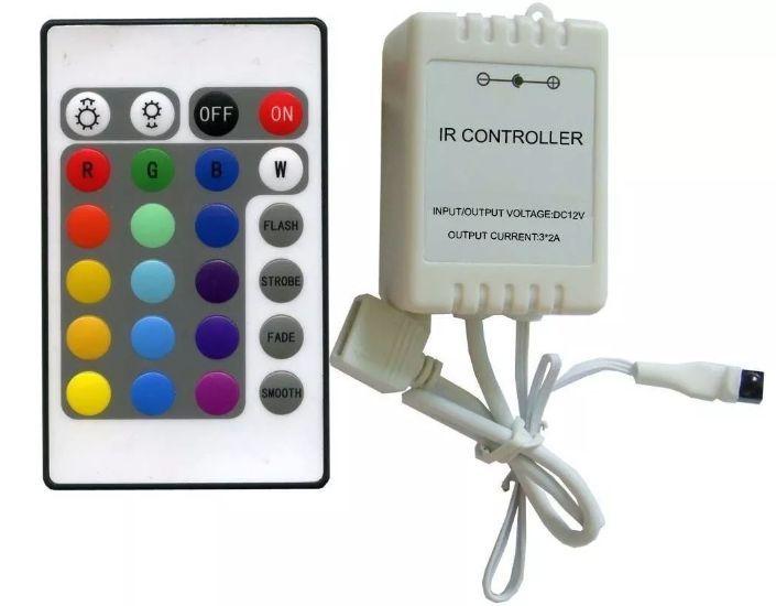 Controle Remoto e Controladora para Fita Led 5050 e 3528 RGB - Reposição