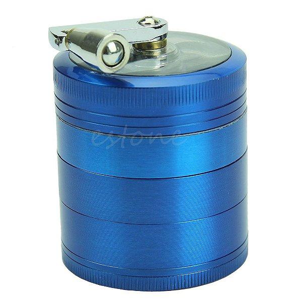 Triturador Metal com Manivela Azul