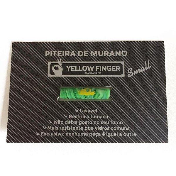 Piteira Murano Small Verde Yellow Finger
