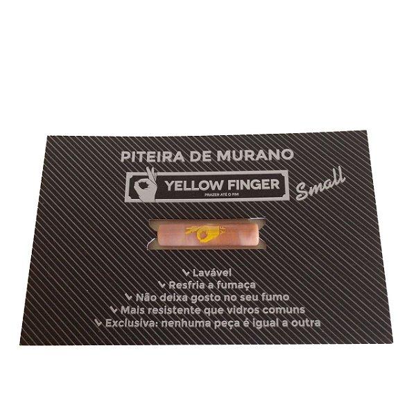 Piteira Murano Small Salmão Yellow Finger