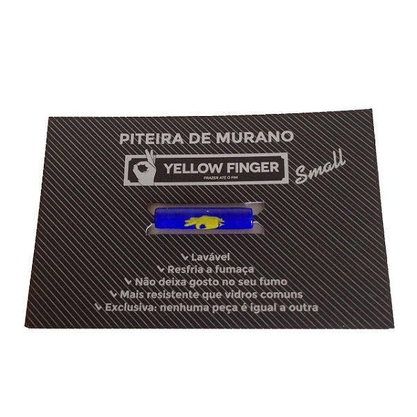 Piteira Murano Small Azul Escuro Yellow Finger