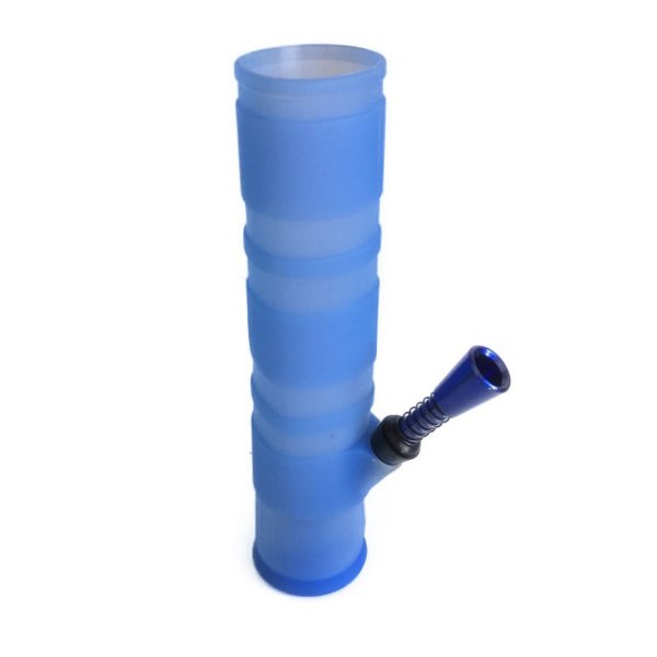 Bong de Silicone Dobrável Azul