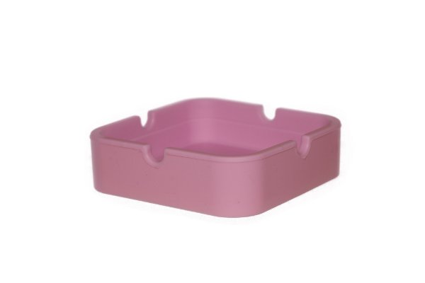 Cinzeiro de Silicone Quadrado Rosa