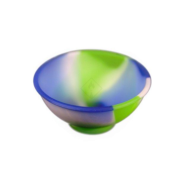 Cuia de Silicone Azul, Branco e Verde