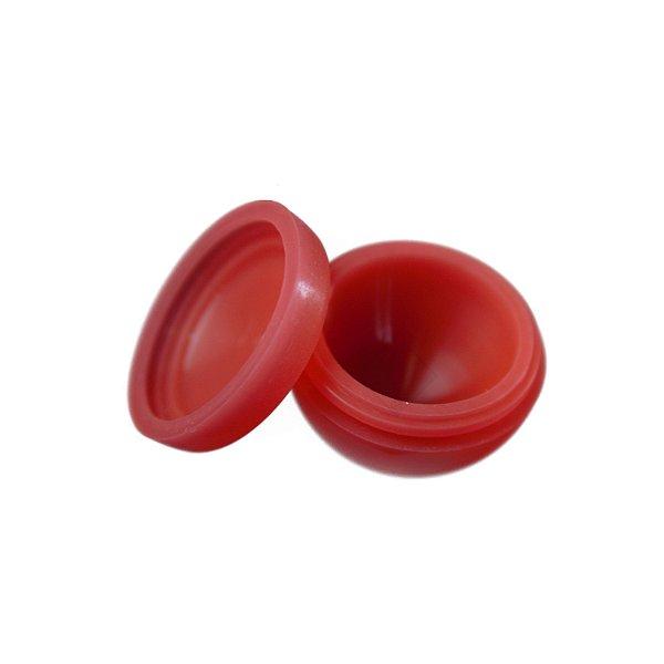 Silicone Oil Slick Metade Redondo Vermelho