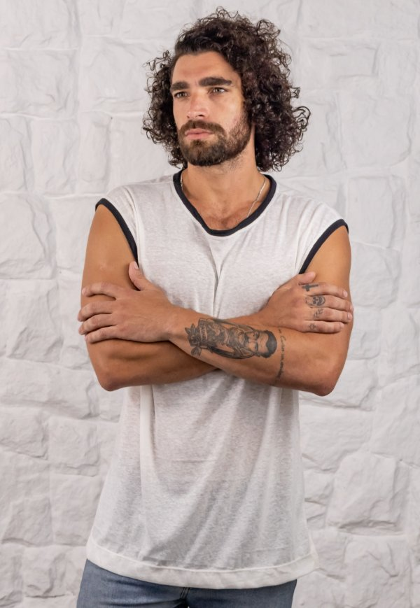Camiseta Regata Machão Nature Off-White