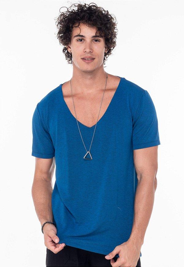 Camiseta Gola V Azul Royal