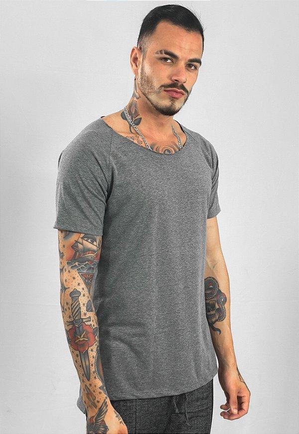 Camiseta Canoa Raglan Long Mescla Dark