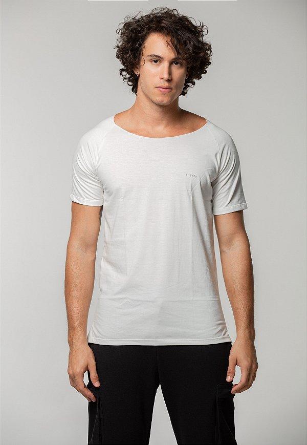 Camiseta Canoa Raglan Long Off White