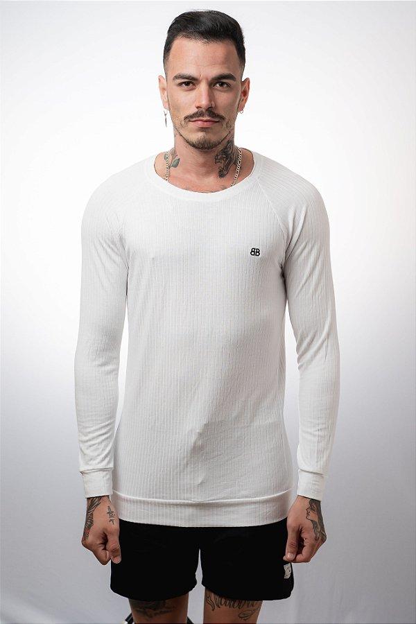 Camiseta Manga Longa Elegance Off White