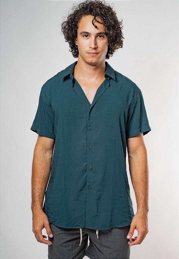 Camisa de Botão Essence Verde