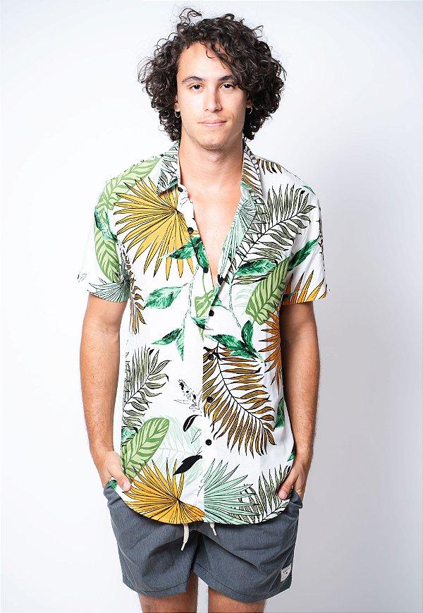 Camisa de Botão Folhagem