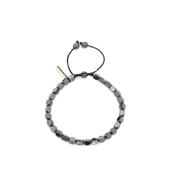 Pulseira de Pedras Faceted Hematita Three