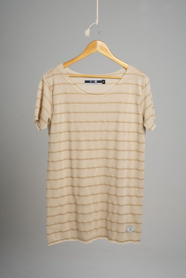 Camiseta Gola Canoa Tricô Ocean Nômad