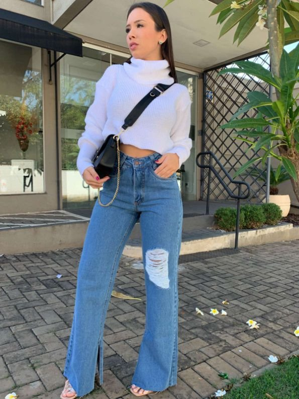 Cropped Tricot Gola Alta OFF