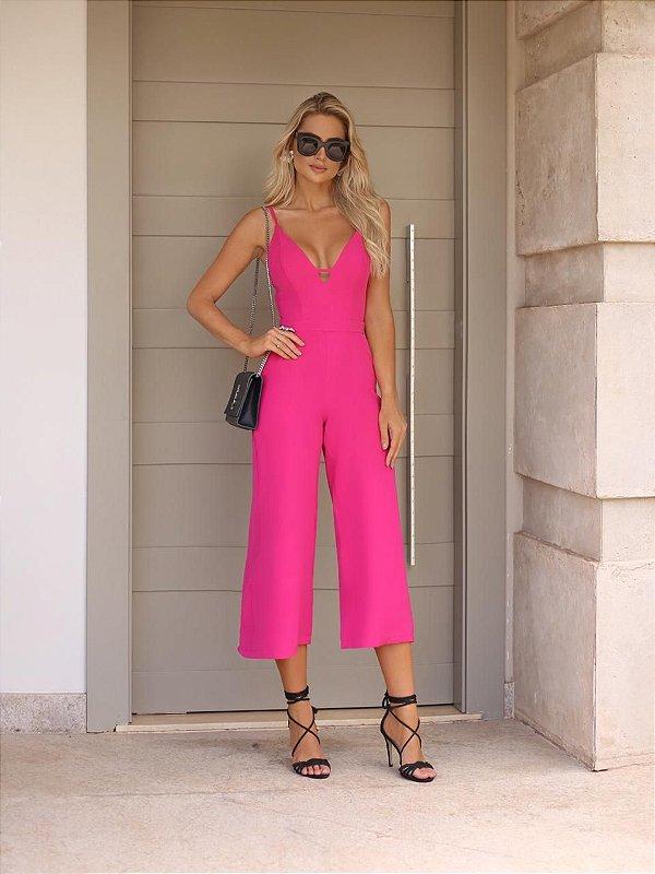 Macacão Twill Pink
