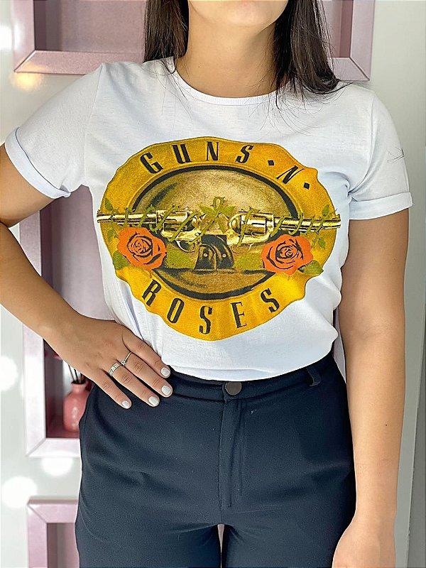 T-shirt Guns Branca