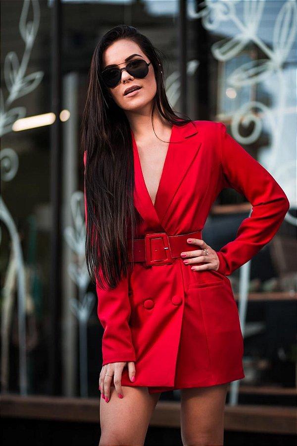 Blazer Vestido Red com Cinto