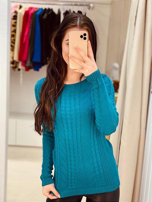 Tricot Azul Esmeralda