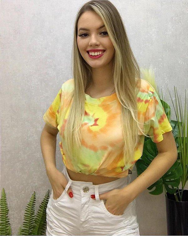 T-shirt Tie Dye Yellow