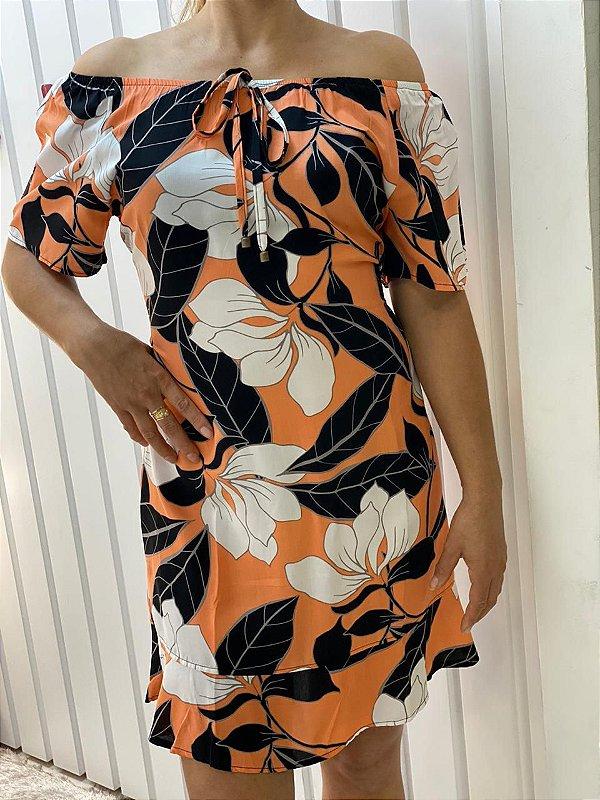 Vestido Viscose Orange