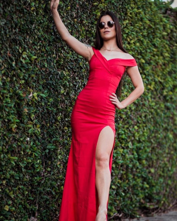 Vestido Longo Red Blitz Closet