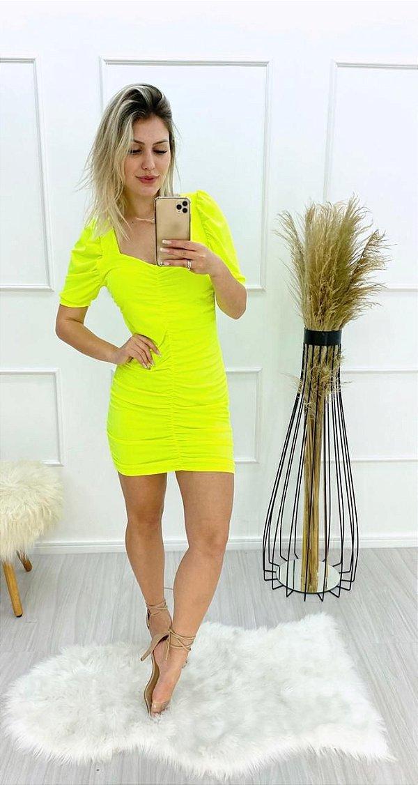 Vestido Neon Drapeado