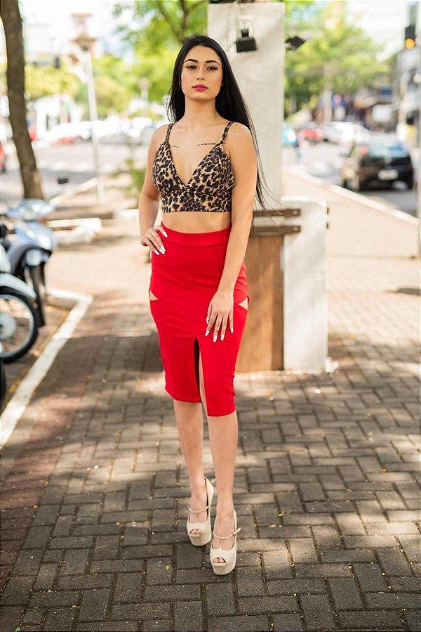 Saia Lara Red Splash Boutique