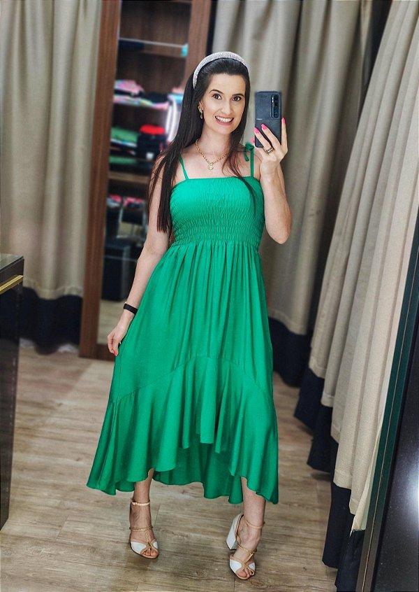 Vestido Muller Lastex Verde