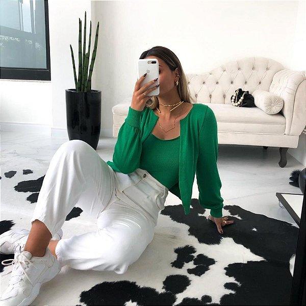 Conjunto Chanel Modal Guilhermina - Verde Bandeira