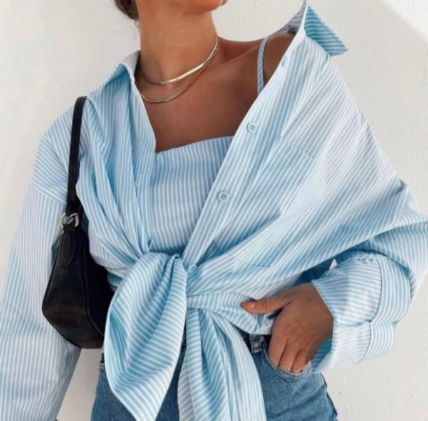 Conjunto Cropped + Camisa Amora