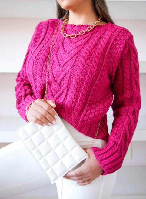 Maxi Cropped Sara Aran Pink Magenta
