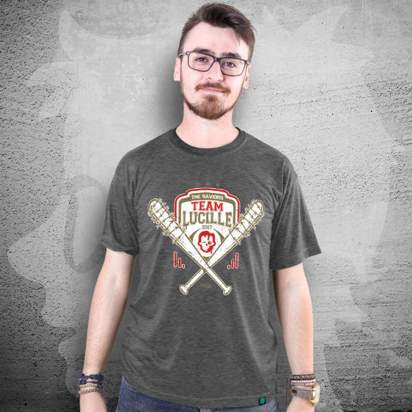 CAMISETA THE WALKING DEAD | TEAM LUCILLE | MASCULINA