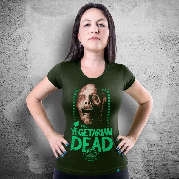 CAMISETA THE WALKING DEAD | THE VEGETARIAN DEAD | FEMININA