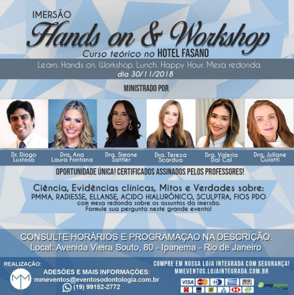 Imersão (Curso teórico com Hands on e Workshop no Hotel Fasano)