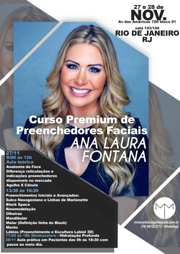 Curso Premium de Preenchedores Faciais - RJ - NOV.