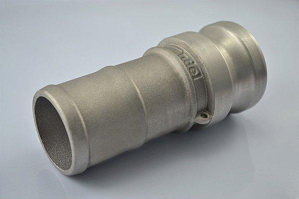 """Engate Camlock ERT-AER Adaptador 4"""" X Espigão 3"""" - Alumínio"""