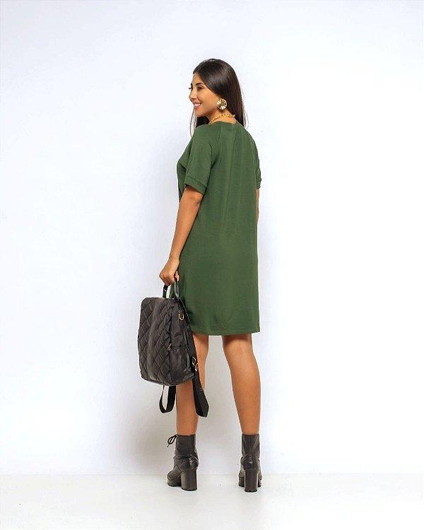 Vestido Moletinho Ragla Fernanda Verde Militar