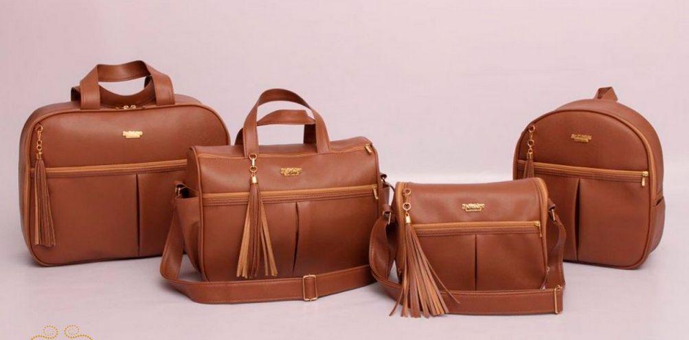 Conjunto de bolsas maternidade - Mamy Chic Marrom