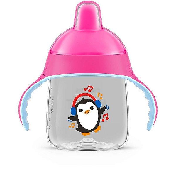 Copo Pinguim 260ml Rosa - Avent